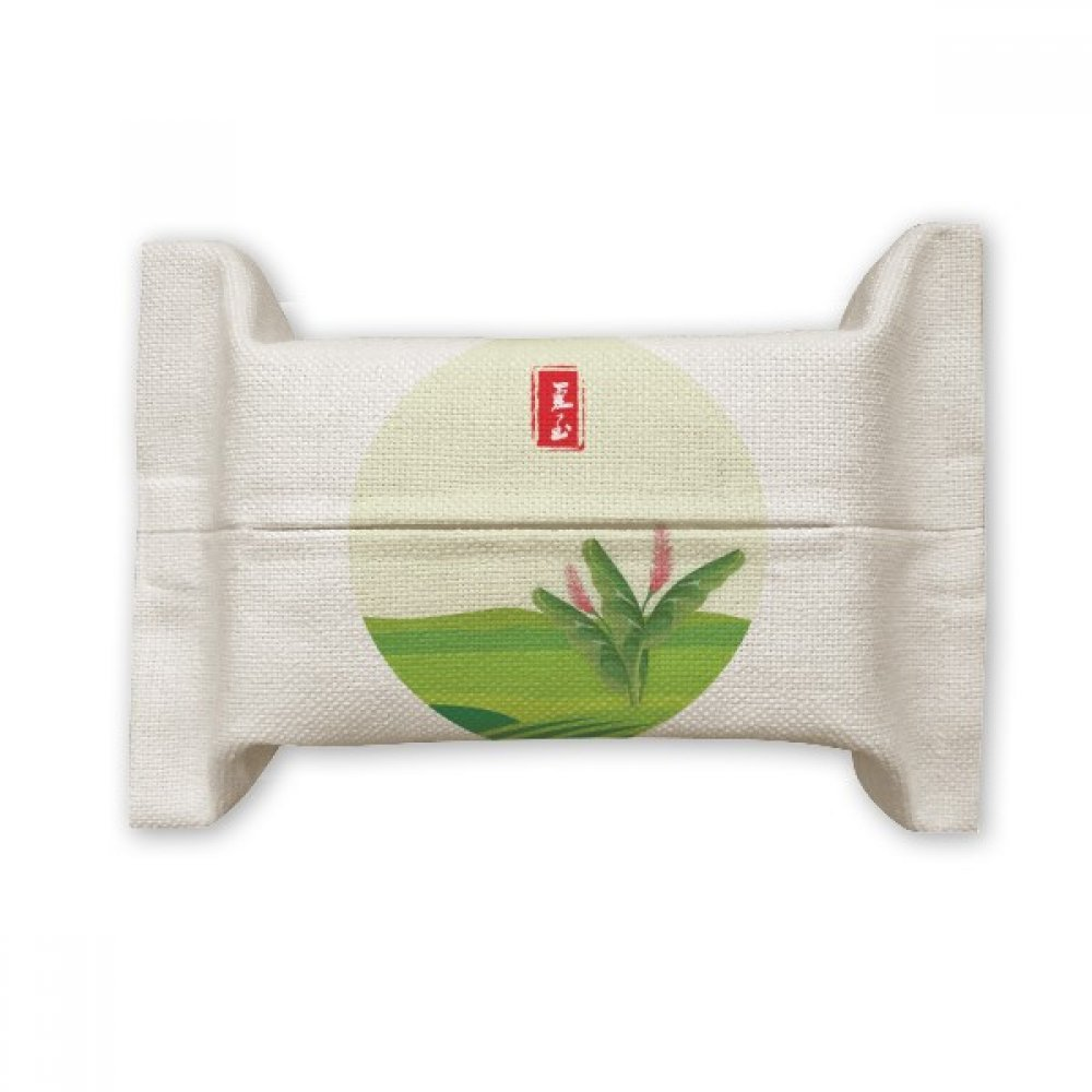 DIYthinker Circlar June Solstice Twenty Four Solar Term Cotton Linen Tissue Paper Cover Holder Storage Container Gift