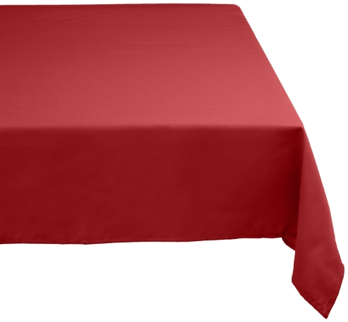 DII 60x104 Rectangular Polyester Tablecloth, Wine Red - Perfect for Fall, Thanksgiving, Dinner Parties, Christmas, Buffets or Everyday Use by DII