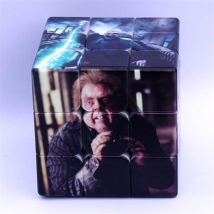 Magic Speed Cubo, Personalidad De Caracteres Inversa Tercer Orden Cubo Mágico De Impresión UV Educativos Juguetes del Regalo Rápida Smooth Ultra Durable: Amazon.es: Hogar