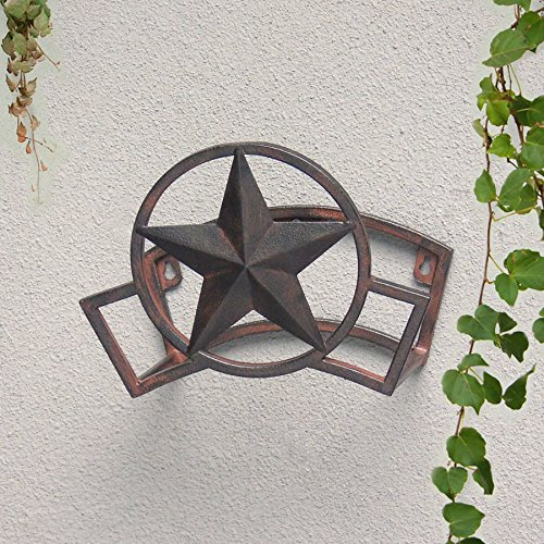 Decorative Star Steel 150-ft Capacity Wall-Mount Hose Reel