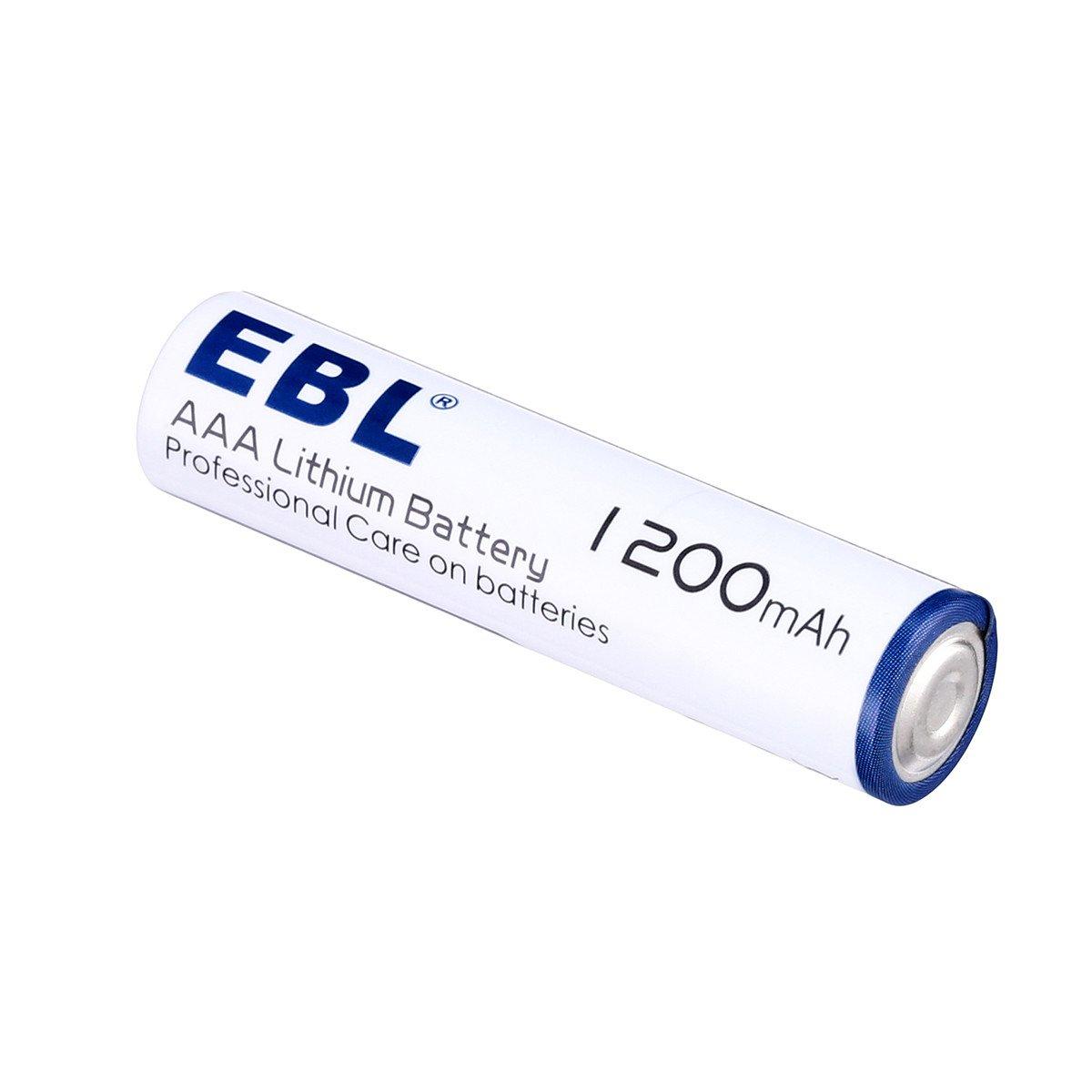 EBL Haltbarkeit Lithium AAA Batterie 1.5V Einwegbatterie 4er Pack mit Aufbewahrungsbox