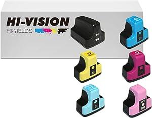 HI-VISION HI-YIELDS Compatible Ink Cartridge Replacement for HP 02 (1 Black 1 Cyan 1 Yellow 1 Magenta 1 Light Cyan 1 Light Magenta, 6-Pack)