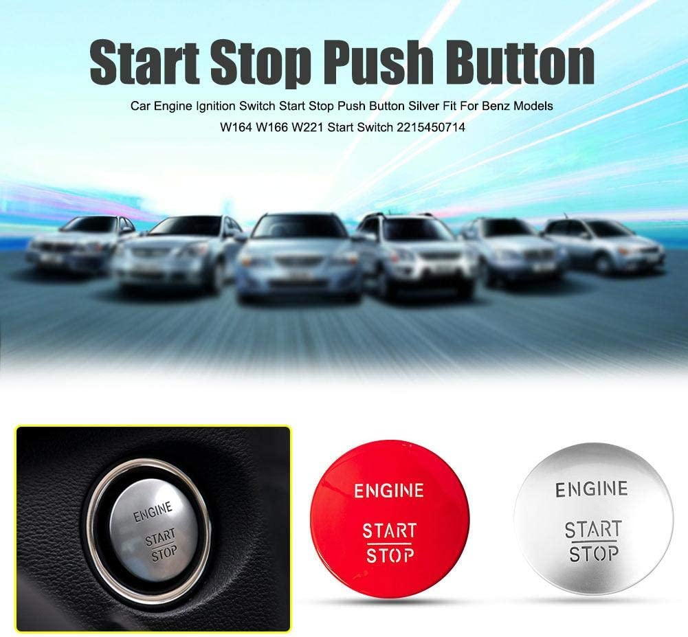 RUNMIND Keyless Go Start Stop Push Button Engine Ignition Switch 2215450714 For All Benz Models With One-click Start Switch