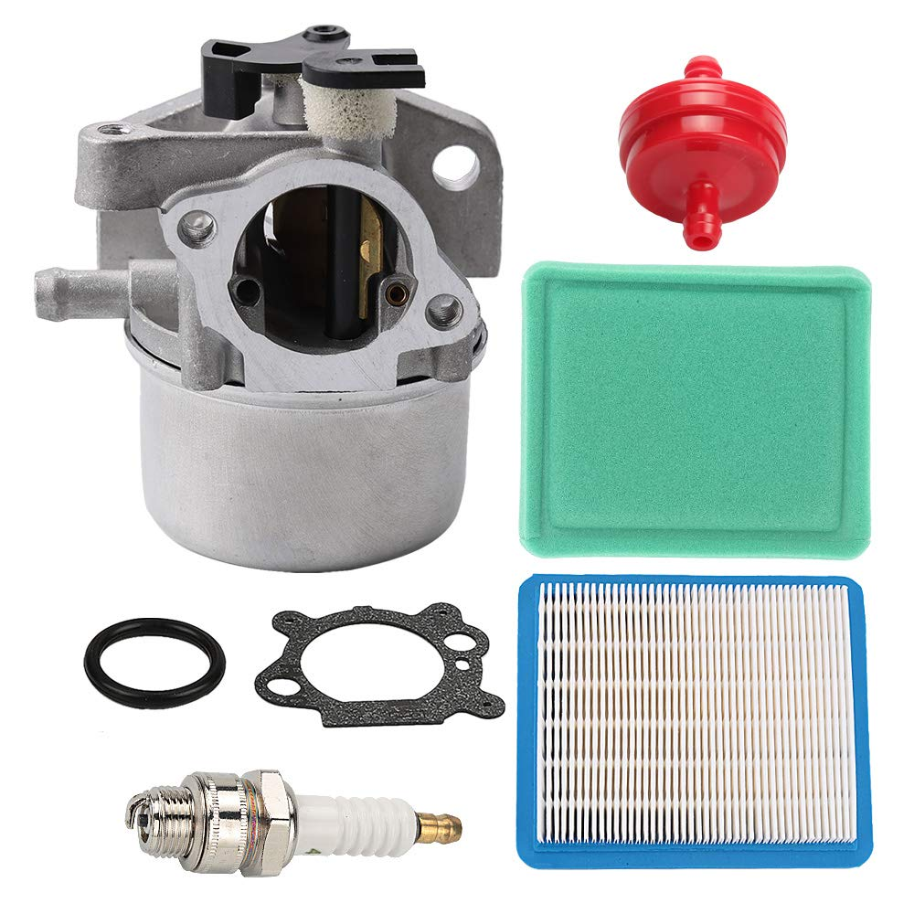 Mckin 799866 Carburetor + 491588 491588S Air Filter fits Briggs and Stratton 190CC 725EX 790845 799871 796707 794304 Engines Toro John Deere Craftsman Troy Bilt Lawn Mower