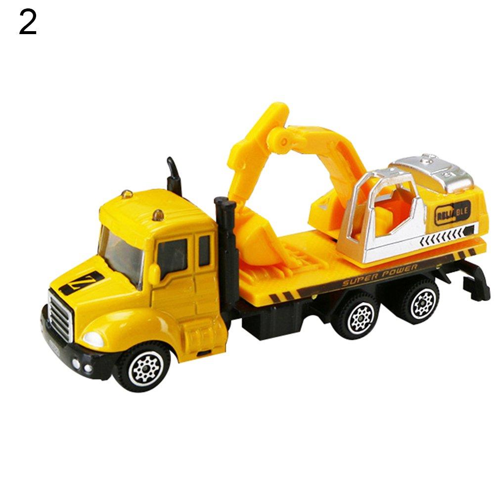 Lx10tqy Mini 1:64 Scale Aerial Ladder Fire Truck Model Children Kids Simulation Car Toy 2#