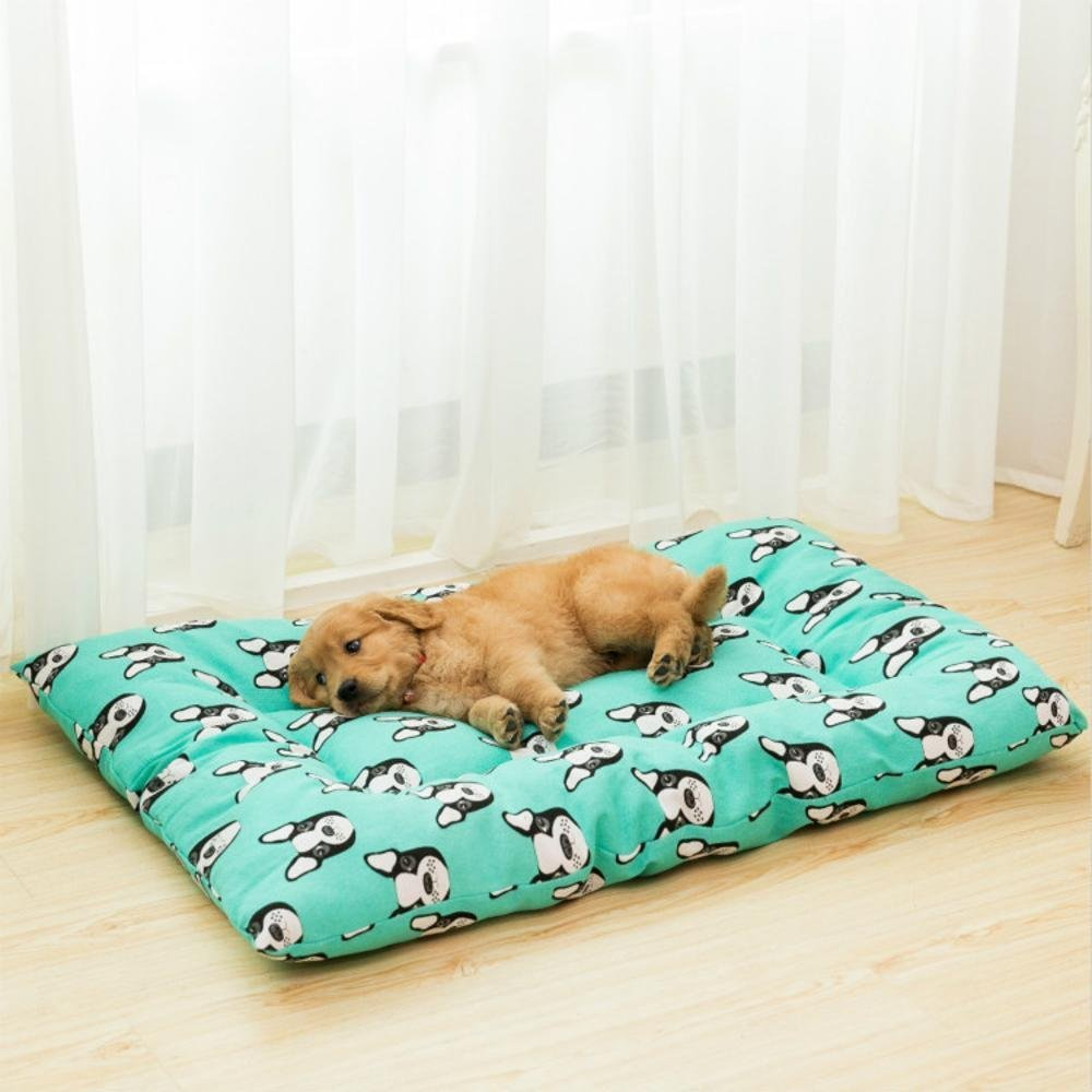 A 5785cmWUTOLUO Pet Bolster Dog Bed Canvas Pet Litter Kennel