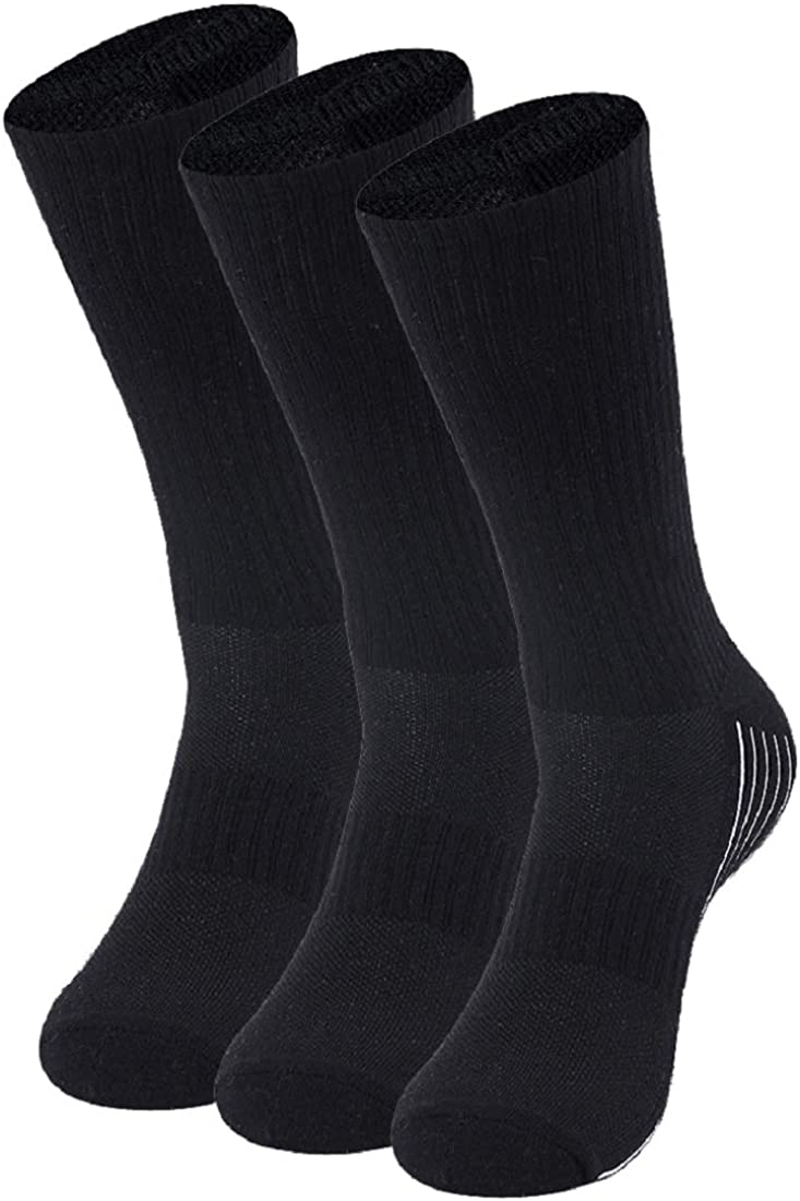 Bamboo Socks, Sunew Soft Mens and Womens Athletic Hiking Crew Cushioned Dress Casual Socks 1/3/6 Pairs