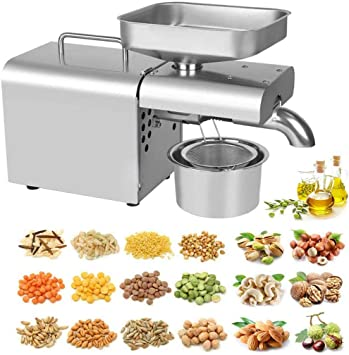 Oil Press Machine Food grade Auto Oil Press Stainless Steel Cold Hot 110V//220V