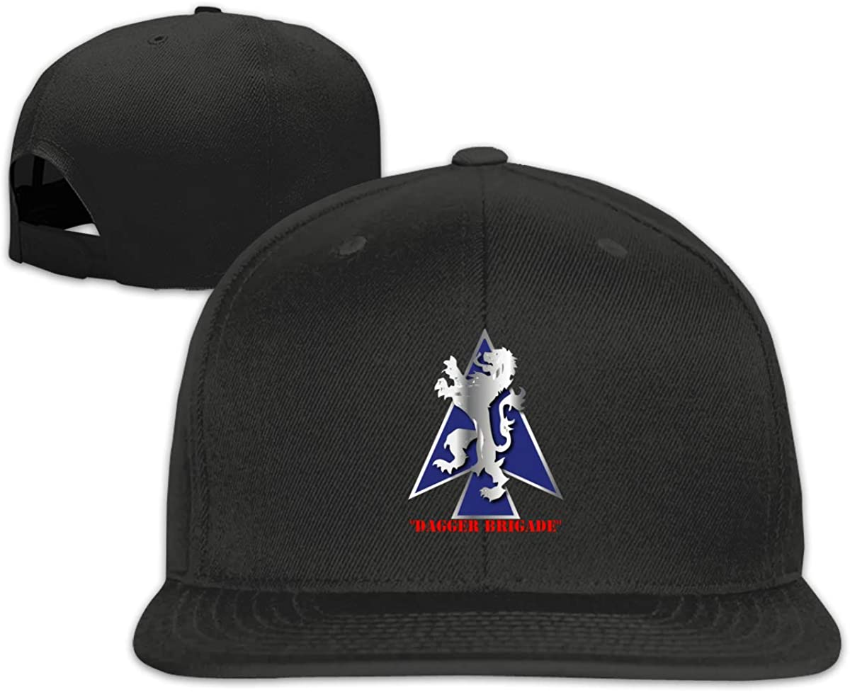 2nd BDE Combat Tm Dagger Brigade 1st Id V1 Adjustable Snapback Hats Unisex Cotton Baseball Caps