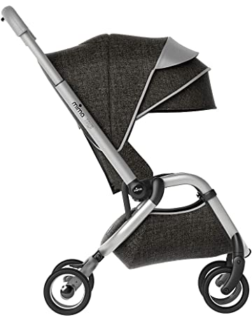 Mima Zigi Lightweight Stroller Travel System, Charcoal - Free Carry Cot