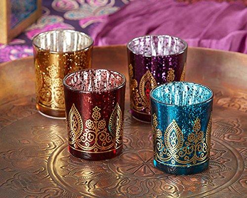 Indian Jewel Henna Votives - Assorted (Set of 4)