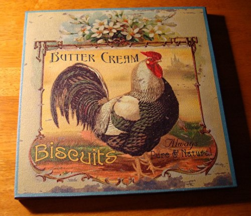 Buttercream Biscuits French Country Style Rooster Kitchen Sign Home Decor