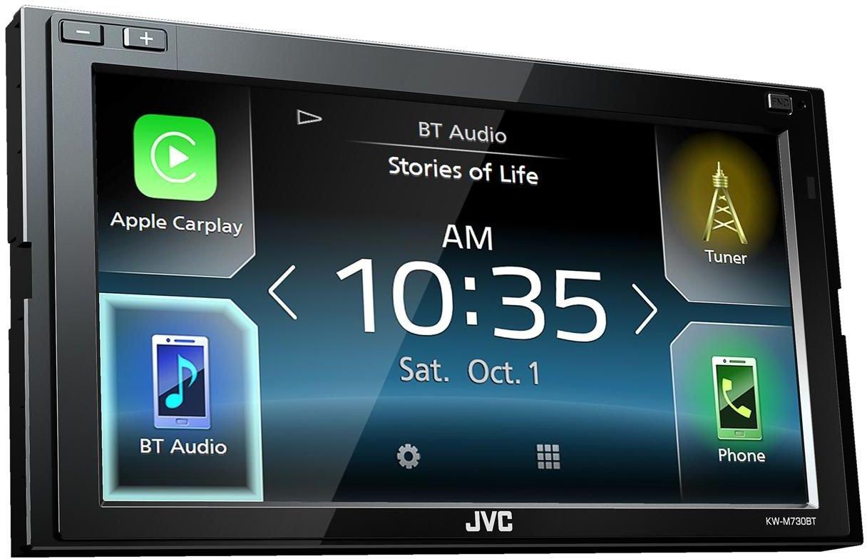 JVC KW-M730BT 6.8'' In-Dash Car Bluetooth Receiver Android, Carplay, Dual USB, EQ