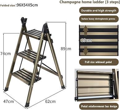 LADDER Taburete Pequeño Taburete Taburete Escalera de Metal Taburete Escalera Taburete Plegable Las Escaleras Heces Heces Estribo Amplio E: Amazon.es: Bricolaje y herramientas