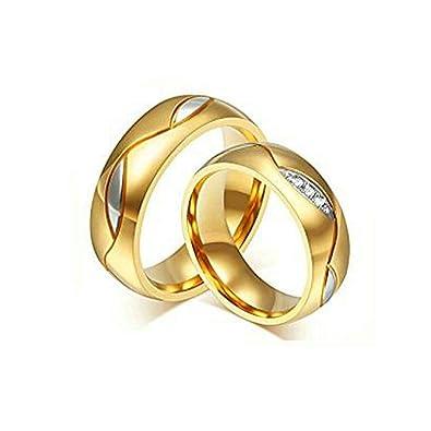 Aooaz Schmuck 2 X Hochzeit Ringe 6mm Fur Damen Herren Ringe Gold