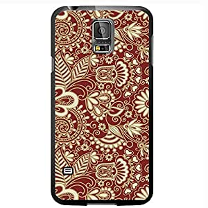 Gold and Burgundy Vintage Pattern Hard Snap on Phone Case (Galaxy s5 V)