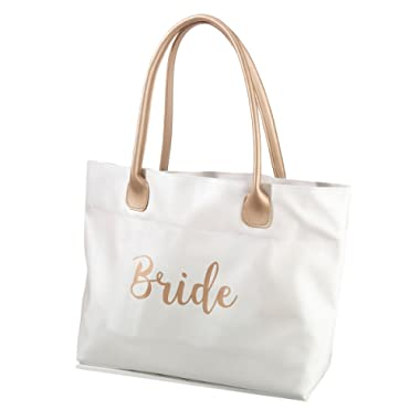 Lillian Rose Gold Bride Tote Bag