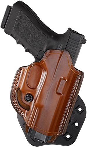 Aker Leather 268A FlatSider XR19 Open Top Paddle Holster for Glock 17