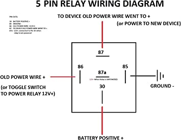 5 wire relay schematic amazon com voodoo harness relay bosch style 5 pin spdt 30 40  voodoo harness relay bosch style