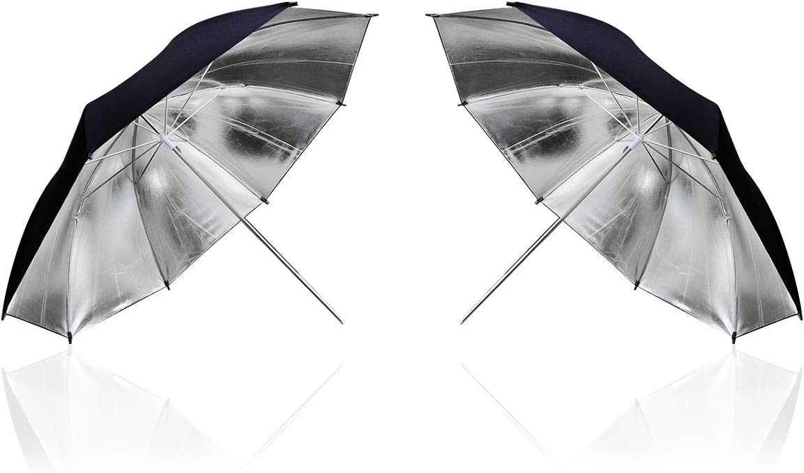HomeLand 2 St/ück 84cm Fotostudio Schwarz Reflexschirme