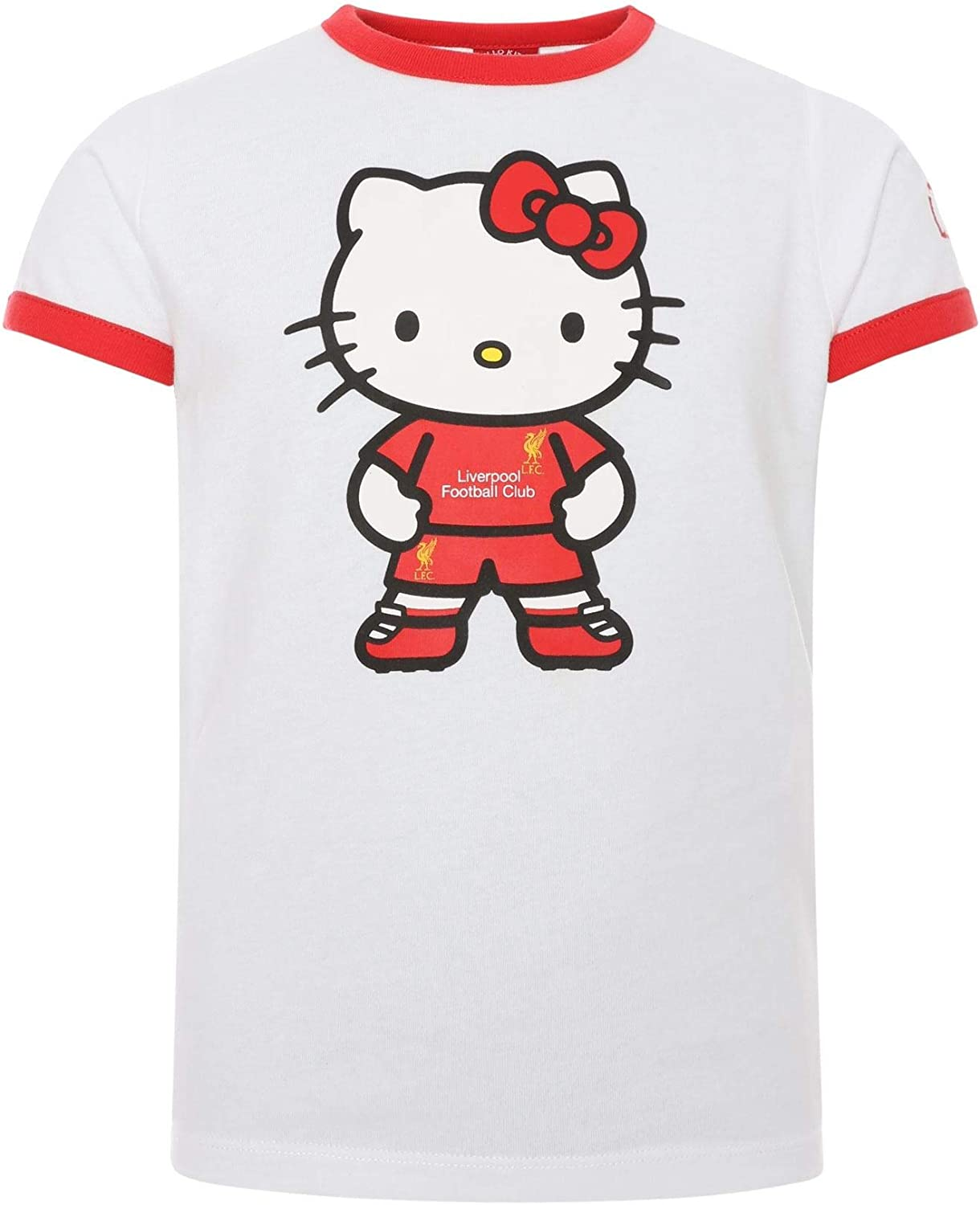 Liverpool FC Camiseta LFC Junior Blanca Rebordes Hello Kitty ...
