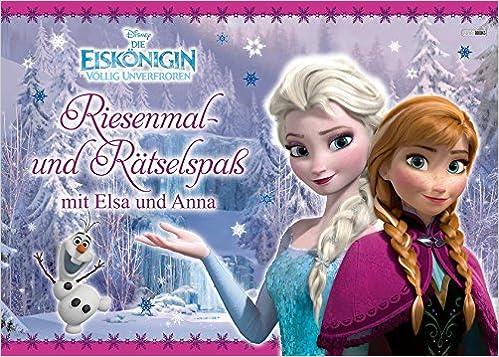Disney Die Eiskönigin Riesenmal Und Rätselspaß Amazonde Bücher