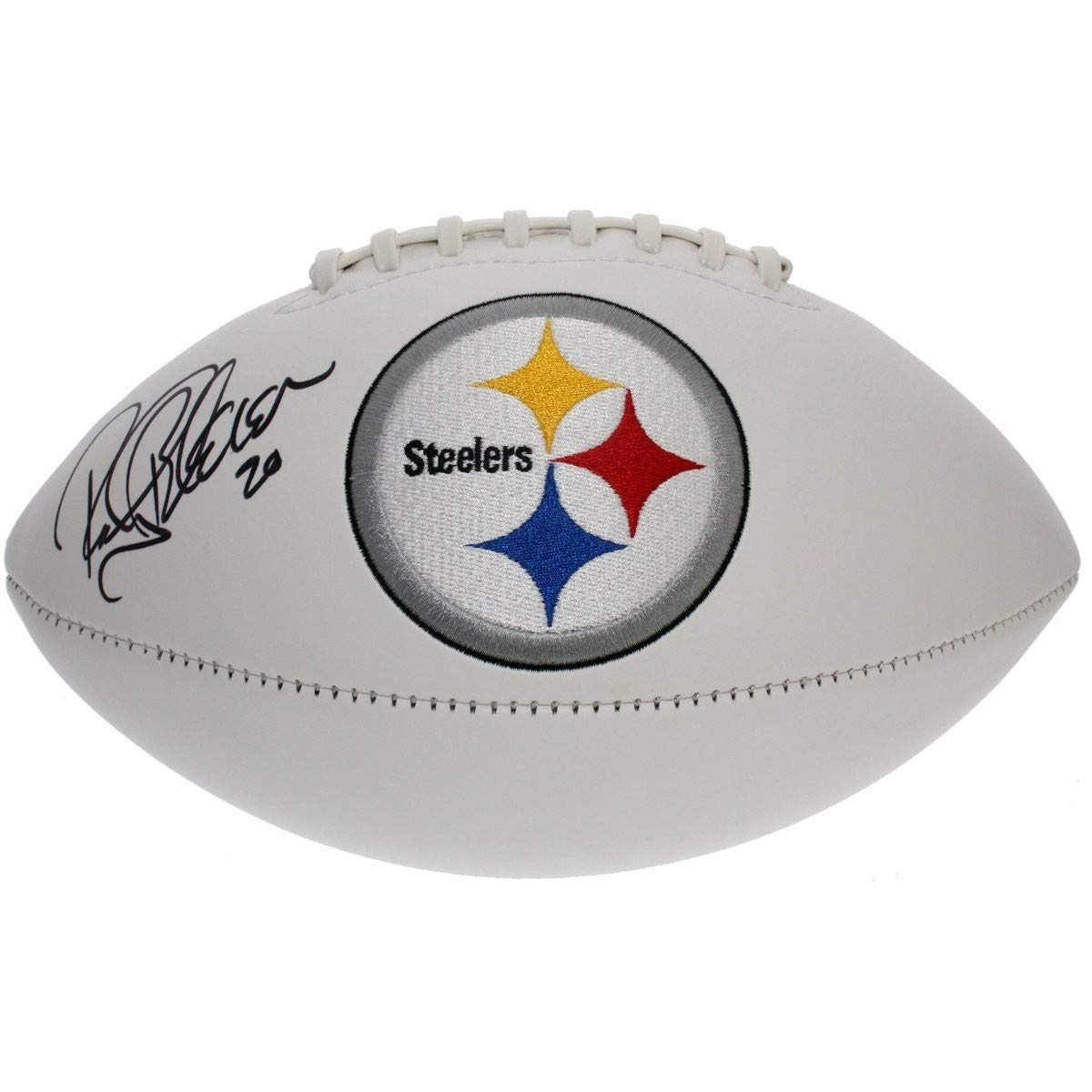 Rocky Bleier Autographed Signed Pittsburgh Steelers White Panel Football - JSA Certified Authentic