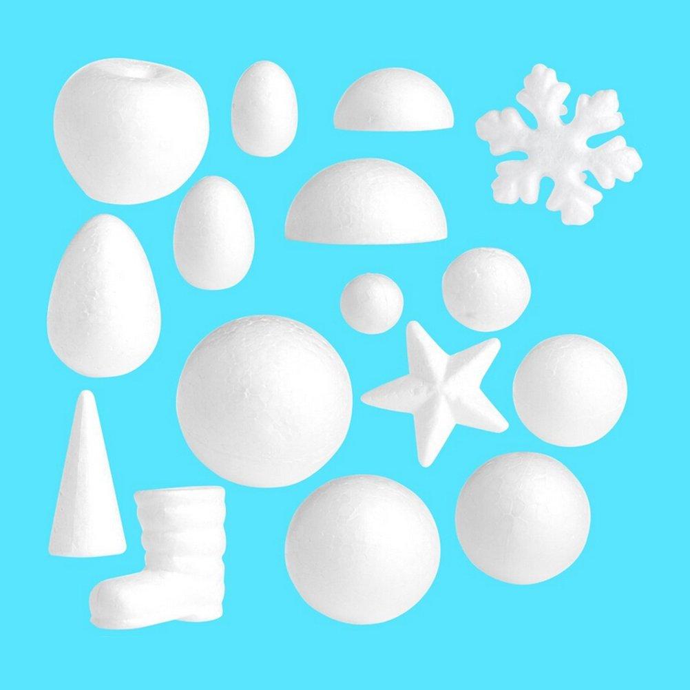 Toyvian 10 Unidades 5 cm Blanco Media Estrella en Forma de Espuma de Espuma de poliestireno Adornos DIY Craft Party Decoration