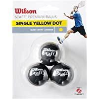 WILSON Staff Squash 3 Ball, Adultos Unisex, Black