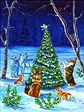 Caroline's Treasures 7304CHF Corgi Christmas Peace Flag Canvas, Large, Multicolor For Sale