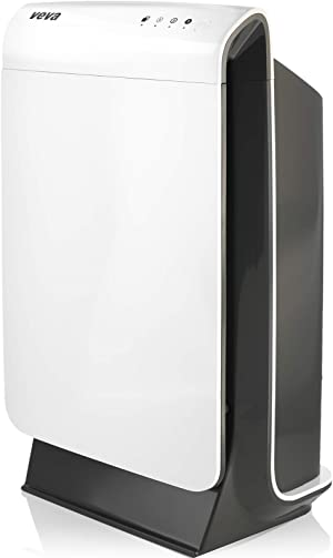 VEVA HEPA Air Purifier for Home - ProHEPA 9000 Purifiers with Medical Grade H13 Washable Filter for Large Room 600+ Sq. Ft, Advanced 4-in-1 Cleaner That Filters Smoke, Dust, Pet Dander & Odor - White