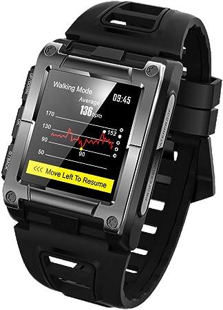 AIFZNSH Monitor de Fitness Impermeable Reloj Inteligente/podómetro Monitor de Ritmo cardíaco Reloj Despertador ...