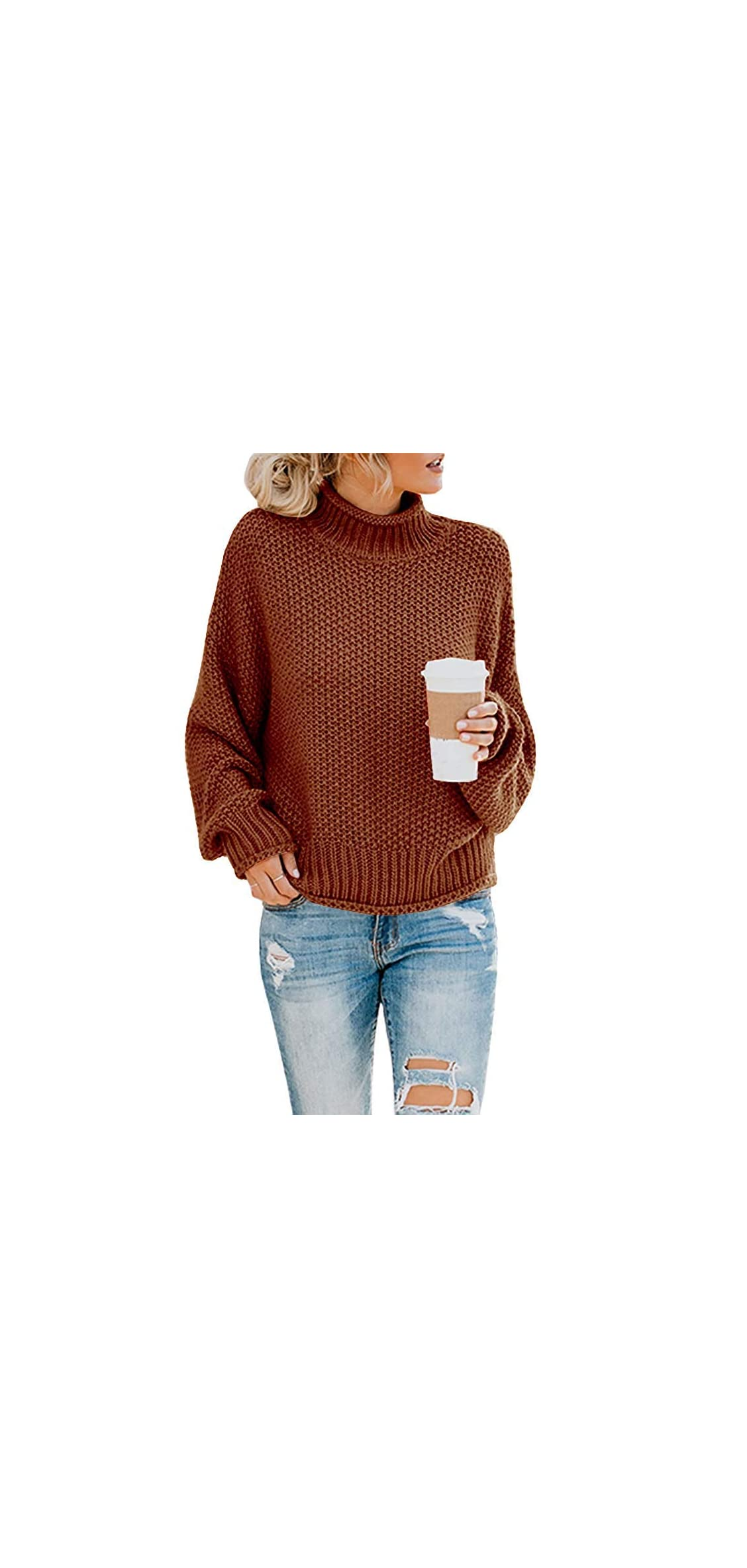 Womens Oversized Sweater Long Sleeve Loose Warm Chunky