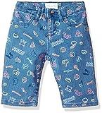 The Children's Place Girls' Big Basic Denim Skimmer Shorts, Lt Med Wash 6596, 8
