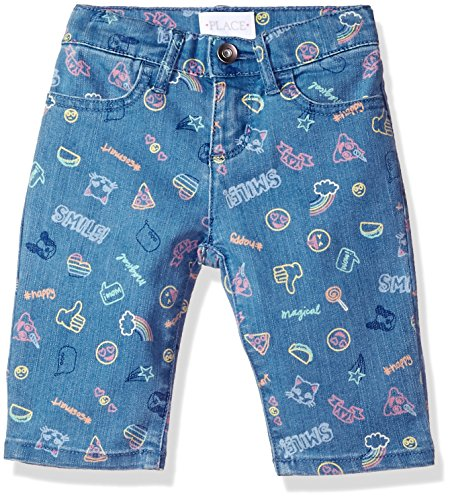 The Children's Place Girls' Big Basic Denim Skimmer Shorts, Lt Med Wash 6596, 8 by The Children's Place (Image #1)