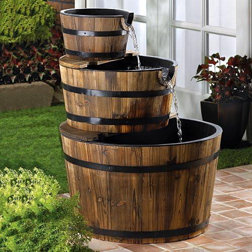 Barrel Trio Fountain