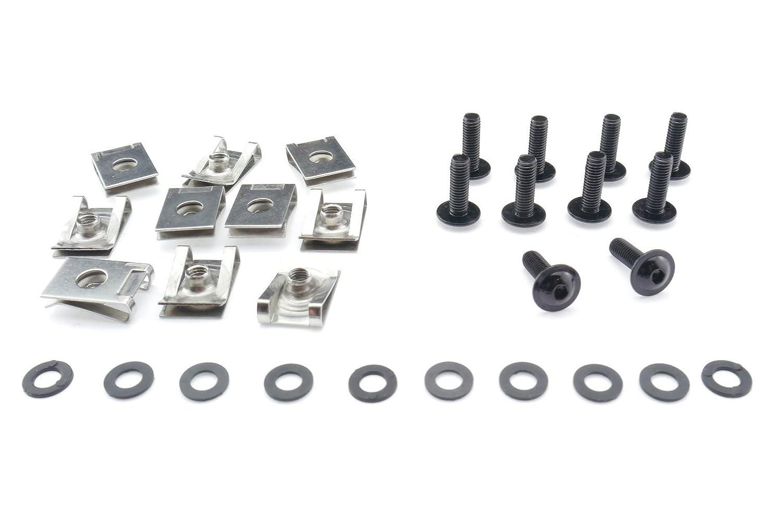 Tech-Parts-Koeln Motorrad Auto Roller Schrauben Verkleidung Klemmen M5x16mm Edelstahl V2A schwarz