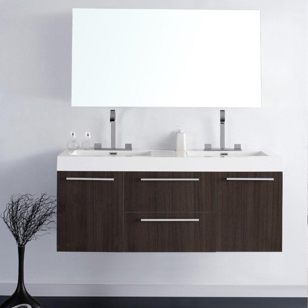 Fresca Bath FVN8013GO Opulento Double Vanity Sink With Medicine Cabinet,  Gray Oak - - Amazon