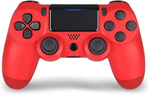 Red Wireless Controller for PS4- YU33 red Remote Joystick for Sony Playstation 4 Control with Dualshock and Charging Cable(Red Wireless Controller,2020 New Model