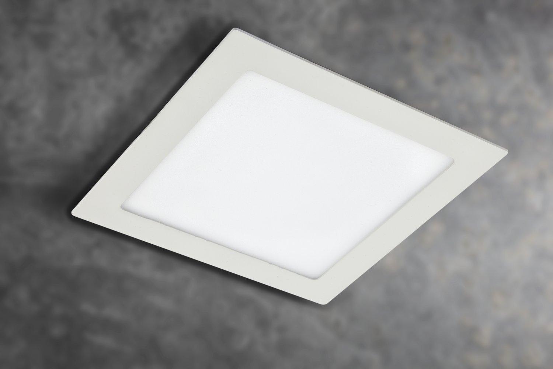 Gedotec Design LED-Deckenleuchte Deckenlampe Deckenlampe Deckenlampe PALLADIO 2.0 XS Aluminium weiß   220 x 220 x 22 mm   LED-Leuchte A++   16W - 230V   zur Beleuchtung von Verkaufsräumen   1 Stück df272f