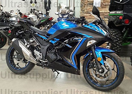 Amazon.com: Blue w/Black Complete Fairing Injection for 2013 ...