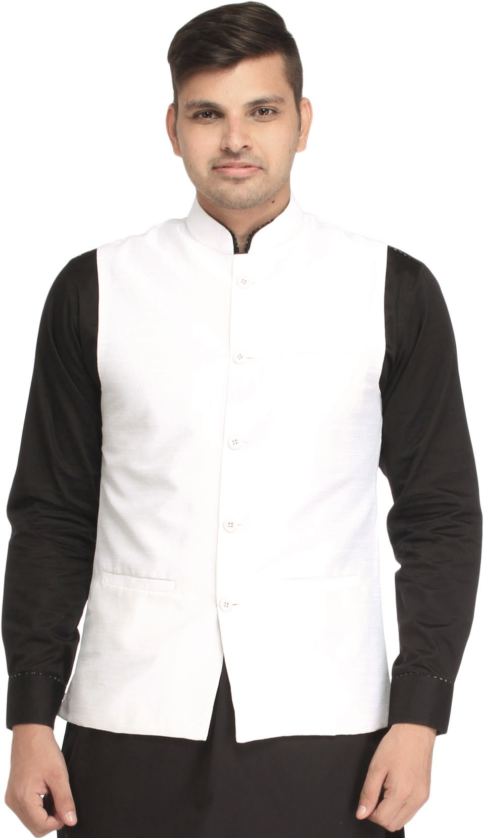 Exotic India Plain Wedding wai - Color White Size 42