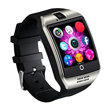 Reloj Inteligente [Nueva Versión], CHEREEKI Smartwatch Android [1.54 Pantalla Curva] Bluetooth Smart Watch con Cámara/Podómetro/Monitor de ...