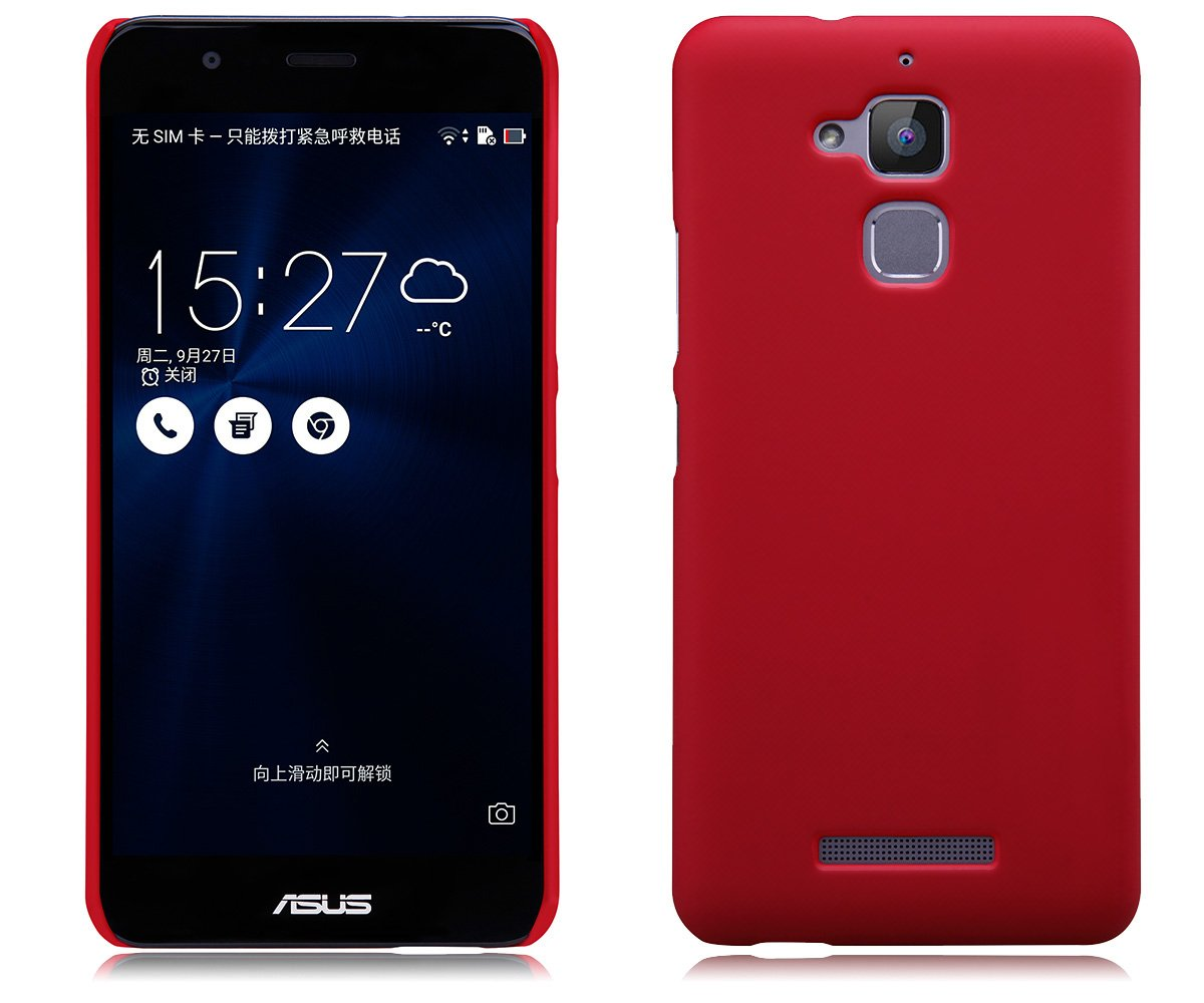 best service 44567 544a5 Asus ZenFone 3 Max ZC520TL Case, TopAce Super Slim Frosted Shield Shell  Cover Case + HD Screen Protector For Asus ZenFone 3 Max ZC520TL (Red)