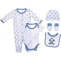 Snugzeez Cheeky Blue Monkey Baby Gift Set, 0000, 5 Count