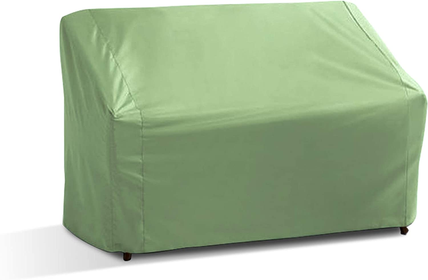 Patio Loveseat/Bench Covers with Adjustable Peel and Fit Fastener Straps Covers Furniture up to 60