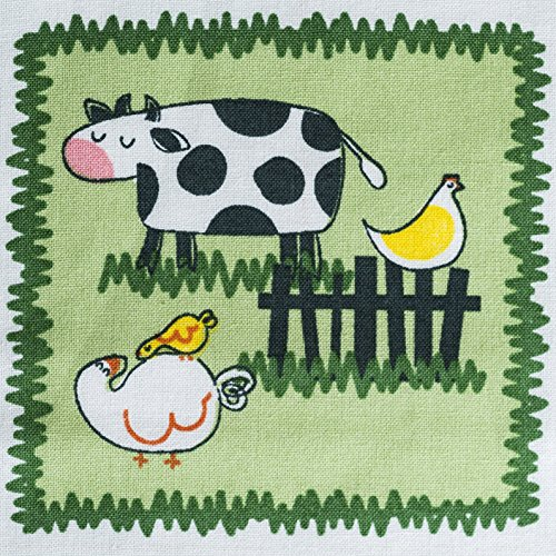 John Deere Crib Sheet, Tractors and Farm Animal Patches