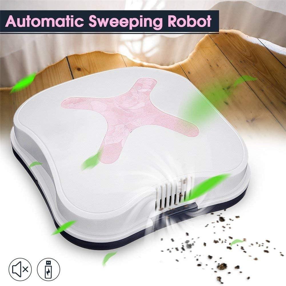 Ayanx Aspirateur Plancher Robot Rechargeable Balayage ABS Coin Bureau Poussière Petits Balayeuses Nettoyage Outils À Domicile pour Canapé Salon Pink