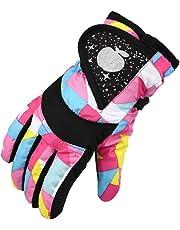 Guantes de esquí Gusspower para niños, para hacer esquí, snow, snowboard, impermeables y resistentes al viento, para deportes en exteriores, térmicos, mantienen el calor