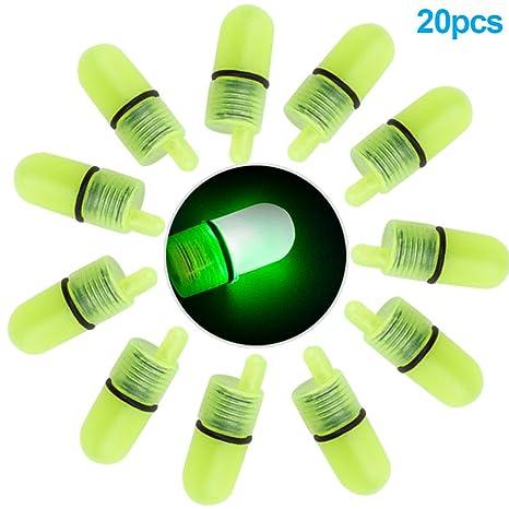 Rokoo 20 Unids / set LED Campanas de Pesca Luminosa Alarma ...